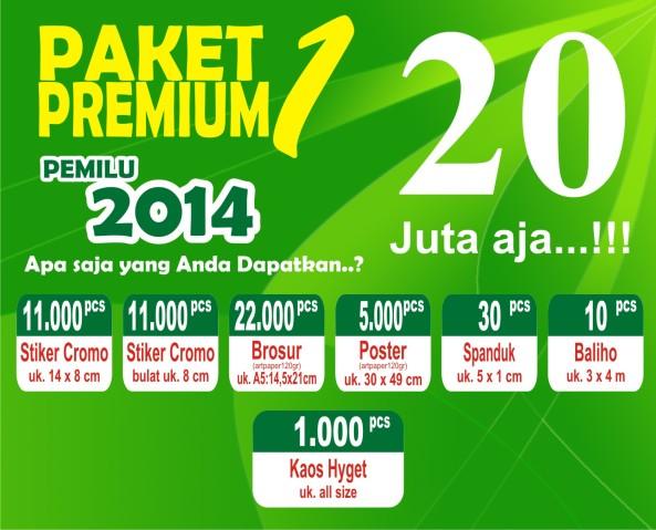 Paket Premium Caleg 1